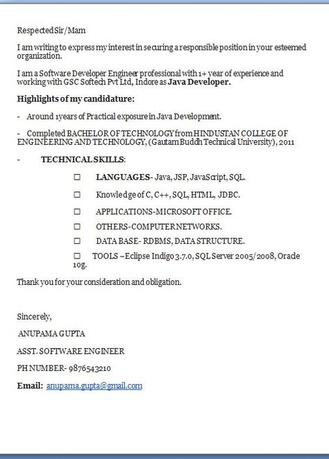 good cover letter examples Excellent Professional Job Application - resume for job application