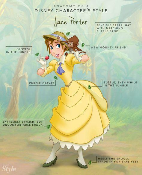 Anatomy of a Disney Character's Style: Jane Porter | Disney Style
