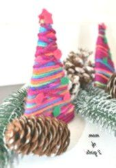DIY DIY Christmas gifts, make your own Christmas tree out of wool, ...   - Basteln und Kreativität -   #basteln #Christmas #Diy #gifts #Kreativität #Tree #und #wool