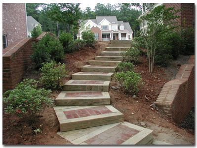 Awesome Timber Paver Step Combo   DIY   Pinterest   Landscape Timbers, Landscapes  And Mountain Landscape