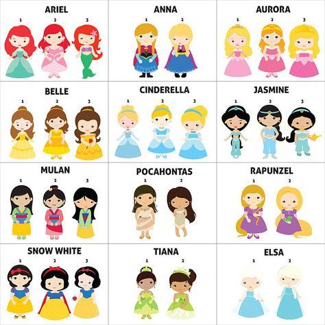 Disney Princess Invitation, Disney Princess Birthday Invitation, Princess Invitation, Princess Birth
