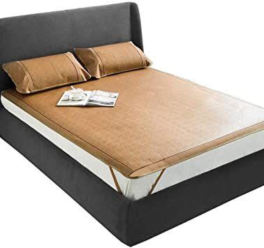 Summer Sleeping Mat Cooling Mattress Top Mat Smooth Air Conditioned Mat Double Sided Bamboo Mat Size 90x190cm Best Mattress Sleeping Mat Mattress