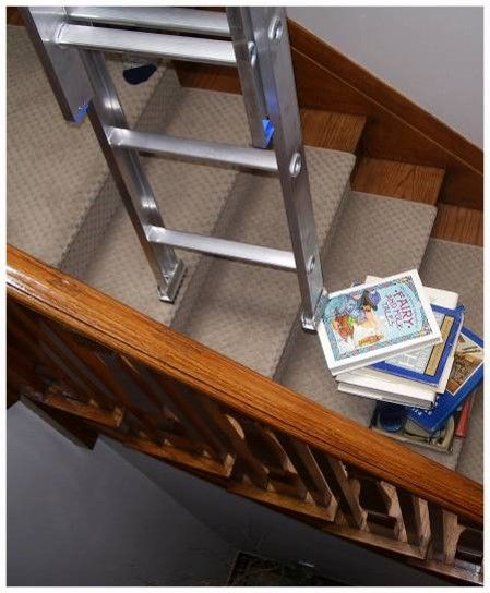 Don T Do This If You Need To Paint Wallpaper Wash The Walls Change A Light Bulb In A Stairway Use Ladder Aide To S Stairway Lighting Home Maintenance Bulb