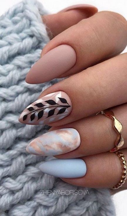 10 Popular Fall Nail Colors For 2020 In 2020 Fall Nail Colors Nail Colors Almond Nails Designs