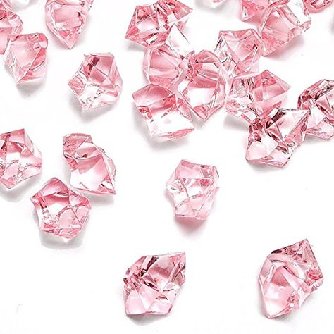 1 20 PCS DomeStar Acrylic Clear Ice Rock Diamond Crystals Fake Ice Cubes Decorative Ice Rocks Plastic Ice Cubes for Decoration Vase Fillers Table Scatter Party Favor Event Wedding Arts Crafts