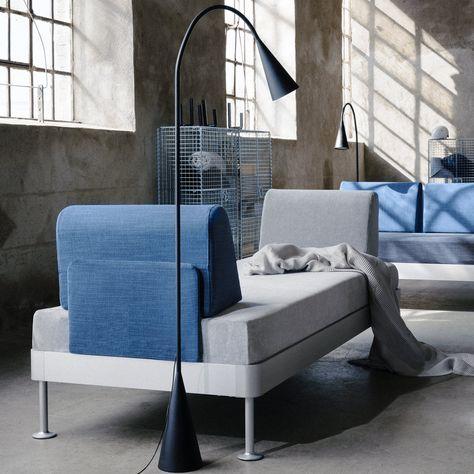 Ikea X Tom Dixon Canape Banquette Gris Chine Et Bleu Avec