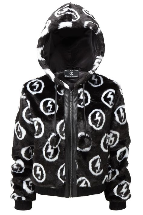 FAUX FUCK. KILLSTAR x MARILYN MANSON Collab Collection. - Luxe Faux Fur.- Satin Lining.- Zip Front.- Fitted. With the 20th Anniversary of 'Antichrist Superstar'