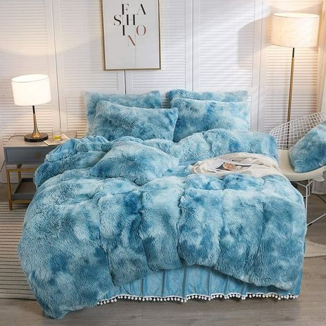 Fluffy Comforter, Bedroom Comforter Sets, King Size Comforter Sets, King Size Comforters, Dorm Room Bedding, College Bedding, Twin Bedding Sets, Designer Comforter Sets, Teal Comforter