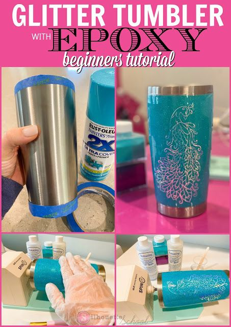 If you're into crafts that require patience, making a DIY glitter tumbler will be right up your alley. I have to admit I just recently made my first stainless steel tumbler with vinyl and glitter and I learned a thing or two. Vinyl Tumblers, Custom Tumblers, Personalized Tumblers, Glitter Cups, Glitter Tumblers, Acrylic Tumblers, Diy Resin Crafts, Glitter Crafts, Glitter Projects