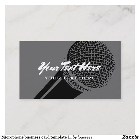 Microphone Business Card Template Logo Design Toastmasters