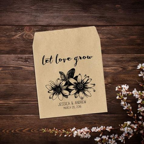 Seed Packet Favor, Rustic Wedding Favor, Wedding #weddings @EtsyMktgTool #weddingfavours #seedpackets #seedfavors #weddingfavors