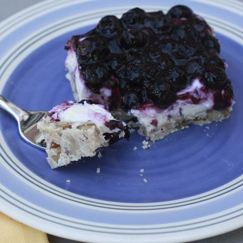 Blueberry Lush: (cheesecake?) this is just like other lush recipes only with blueberry...recipe includes