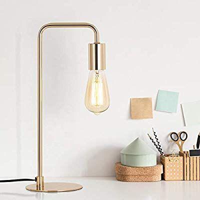 Edison Table Lamp Industrial Desk Lamps Small Gold Metal Lamp