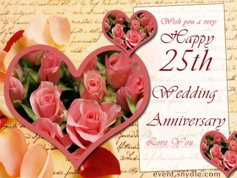 25th marriage anniversary wishes hi pinterest marriage