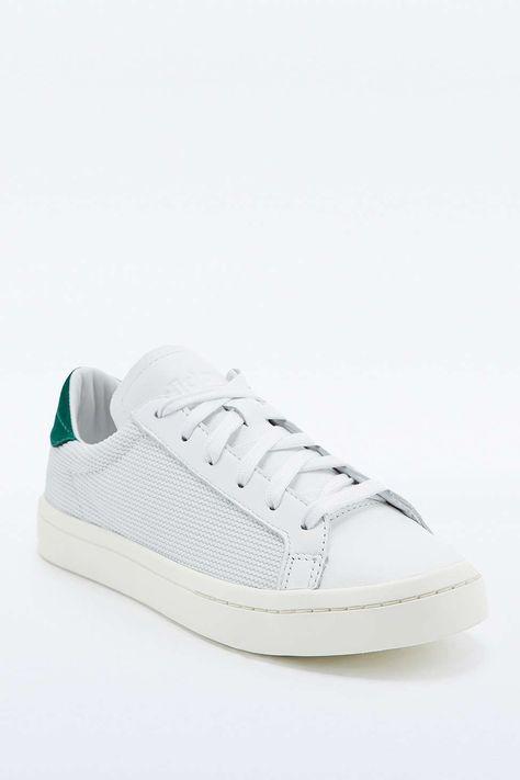 """adidas Originals – Sneaker """"Court Vantage"""" in Weiß und Grün"""