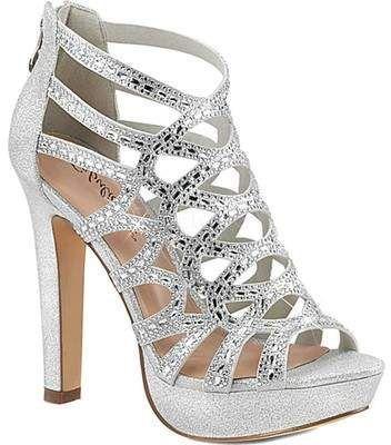 WomenTranparent Peep Toe Ankle Strap Sandals Block High Heel Platform Shoes Size