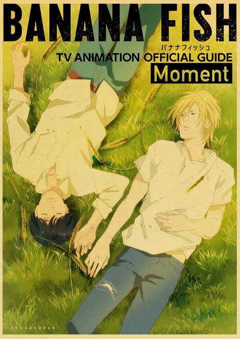 Back to College Japanese Anime Banana fish Retro Posters Art Movie Painting Kraft Paper Prints Home Room Decor Wall Stickers - 30X21cm-12 / Q003 / China