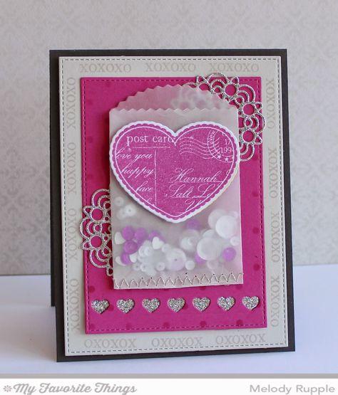 All My Love stamp set and Die-namics, Delicate Doilies Die-namics, Tag Builder Blueprints 3 Die-namics, Treat Pocket Die-namics - Melody Rupple #mftstamps