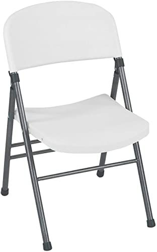 The Cosco Resin Folding Chair Molded Seat Back White Speckle 4 Pack Online Shopping Gotopratedseller In 2020 Folding Chair Chair Wood Dining Room Set