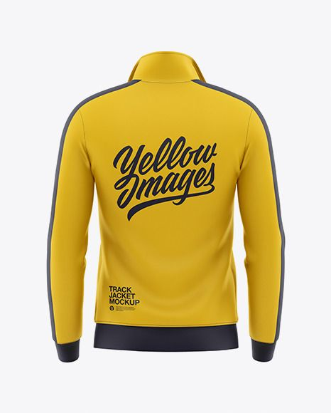Download Men S Long Sleeve Track Jacket Mockup Back View In Apparel Mockups On Yellow Images Object Mockups Clothing Mockup Track Jackets Shirt Mockup