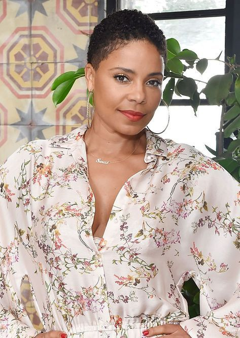 Stylecaster Best Celeb Natural Hair Moments Of 2018 Sanaa Lathan Get The Best Natural Ha Short Natural Hair Styles Short Hair Styles Short Natural Styles