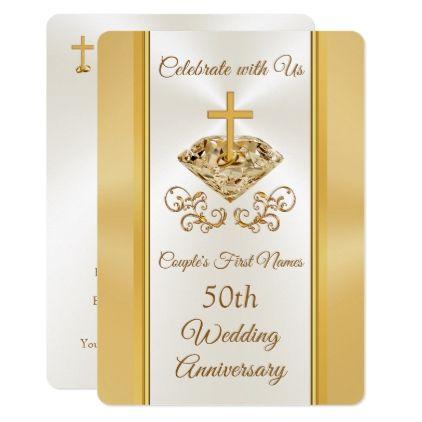 Christian 50th Wedding Anniversary Invitations Zazzle Com Anniversary Invitations 50th Wedding Anniversary Invitations 50th Anniversary Invitations