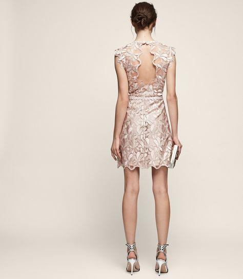 53427f42f92 Sami Lace Open-Back Dress - REISS