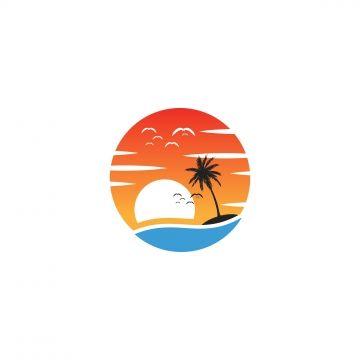 Beach Sunset Logo Design Vector Icon Element Logo Icons Beach Icons Sunset Icons Png And Vector With Transparent Background For Free Download Matahari Terbenam Pantai Seni Vektor Ikon Instagram