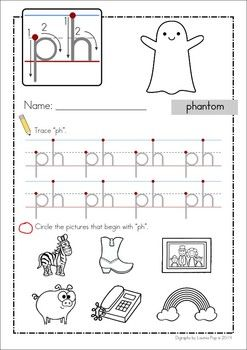 Preschool Letter Worksheet - ph sound, one in our range of free ...