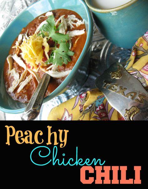Peachy Chicken Chili Recipe #1TexasChili #ad http://freebies4mom.com/wolf/