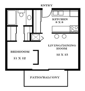 Small Apartment Floor Plans One Bedroom Small Apartment Floor