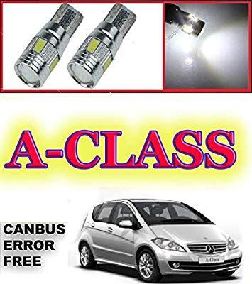 2 X Led M E R C E D E S A Class W169 2004 2012 Xenon White Led Sidelight Light Bulbs Canbus Error Free Bright White Cree Led Upgr Cree Led Bulb Light Bulbs