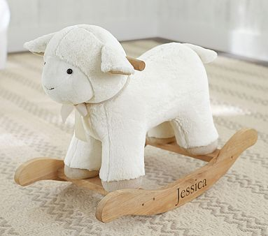 Lamb Plush Rocker #pbkids @Elizabeth Lockhart Settle Savannah needs one of these! They are the cutest things ever :)