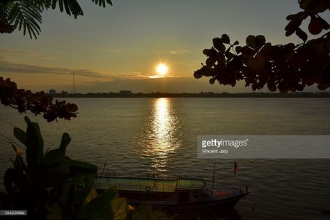 Thakhek sunset with mekong river, Laos, Asia.
