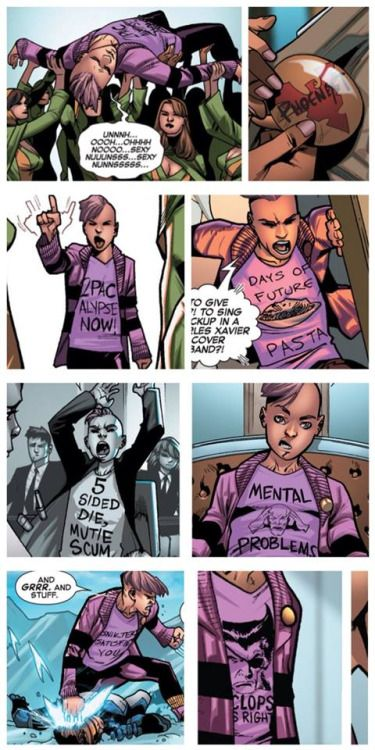 Genegreyschool The T Shirts Of Quentin Quire By Bipolar Candyland Marvel Cartoons Xmen Comics X Men Costumes