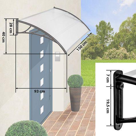 TecTake MARQUESINA Techo TOLDO Dosel para Puertas PROTECCIÓN - Varias tamaños - (Tamaño: 150 cm | No. 401265): Amazon.es: Hogar