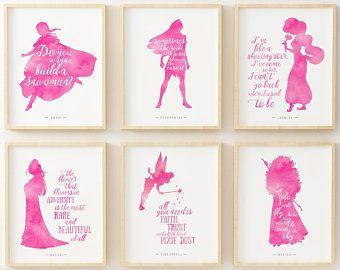 Disney Posters Disney Wall Decor Princess Wall Art Disney Etsy