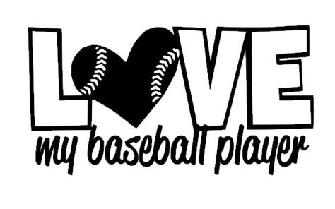 Download Love My Baseball Player Car Decal by 2VinylDivas on Etsy ...