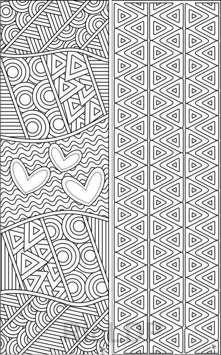 Set Of 8 Coloring Bookmarks With Calming Patterns Abstract Bookmark Templates Digital Download Abstract Coloring Pages Coloring Bookmarks Pattern Coloring Pages