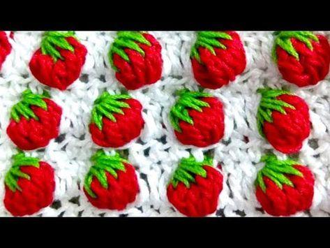 Strawberry stitch crochet - YouTube
