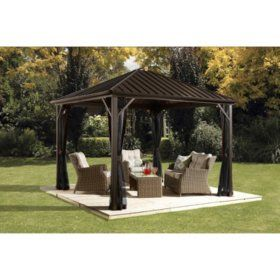 Sojag Dakota Sun Shelter Multiple Sizes Sam S Club Pergola Patio Patio Gazebo Gazebo