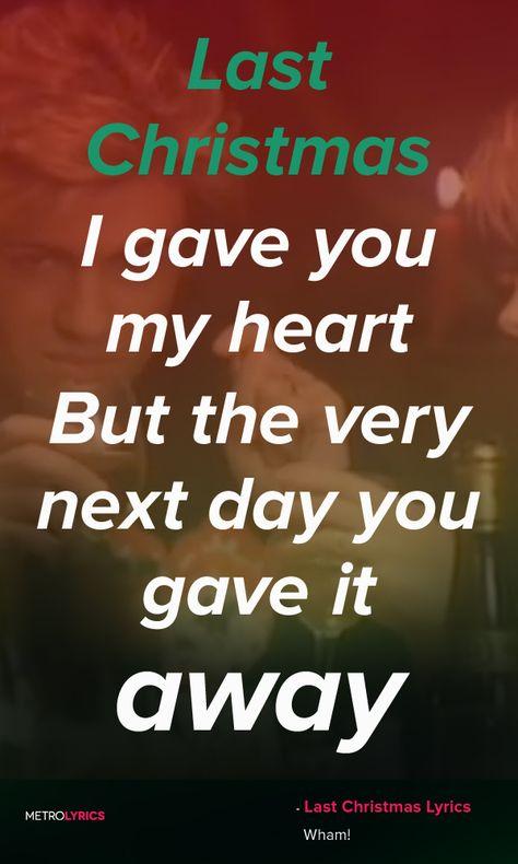 wham last christmas lyrics and quotes last christmas i gave you my heart - Wham Last Christmas Lyrics