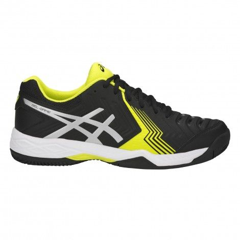 gel-game 6 clay tennisschoenen heren black silver sulphur spring