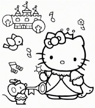 Print Download Coloring Pages For Girls Recommend A Hobby To A Child Kitty Coloring Hello Kitty Coloring Hello Kitty Colouring Pages