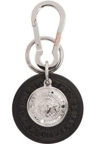 Balmain Leather Key Chain