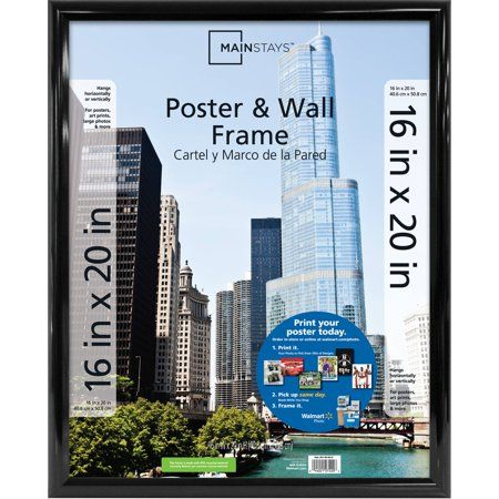 Mainstays 16 X 20 Trendsetter Poster And Picture Wall Frame Black Walmart Com Poster Frame Picture Frame Wall Frames On Wall
