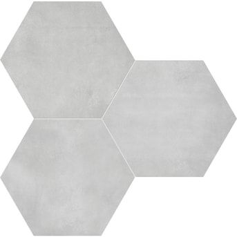 Satori Nouveau Greige Hexagon 8-in x 8-in Matte Porcelain Encaustic Floor and Wall Tile in the Tile department at Lowes.com