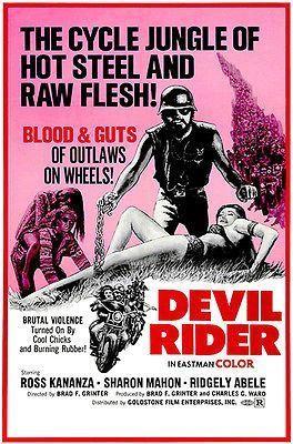 "movie poster WEREWOLVES ON WHEELS motorcyle gang /""BRIDE OF SATAN/"" 24X36"