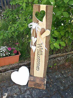 Dekor Holz Aufsteller Willkommen Schild Holzbalken Familienschild Wunschbeschriftung In 2020 Wood Block Crafts Wood Crafts Block Craft