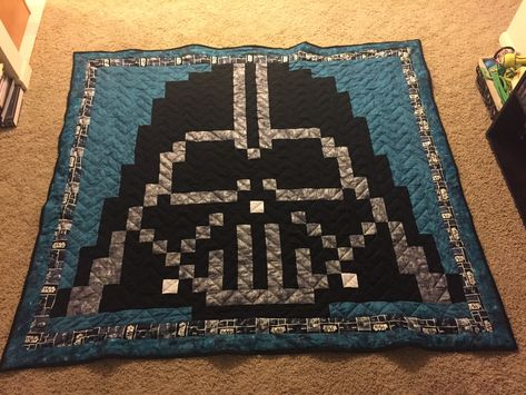 Pixel Star Wars Darth Vader Quilt With Minky Back Pattern On Etsy